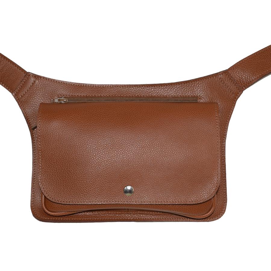 pochette ceinture en cuir grand mod le laura descamps. Black Bedroom Furniture Sets. Home Design Ideas