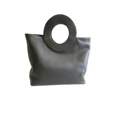 fabrication sur mesure sac en cuir noir