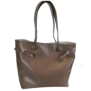 sac cabas cuir bronze