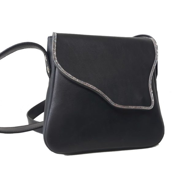 Petit sac en cuir noir