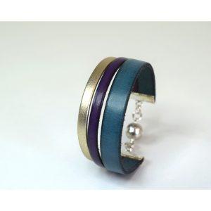 bracelet 3 brins en cuir