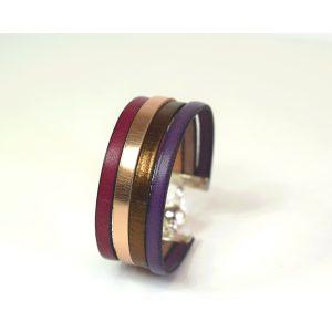 bracelet 4 brins en cuir