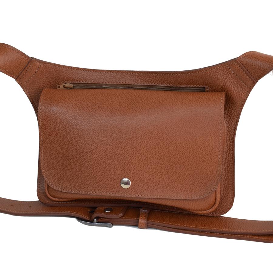 45044b10e0a pochette ceinture en cuir grand modèle - Laura Descamps