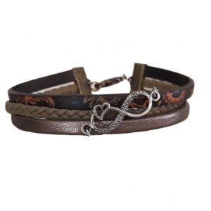 Bracelet en cuir de fabrication artisanale